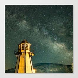 Mountain Light House Canvas Print