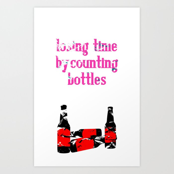 counting bottles Art Print