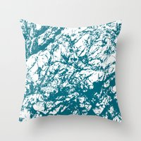 stone Throw Pillows featuring Stone by mangulica illustrations