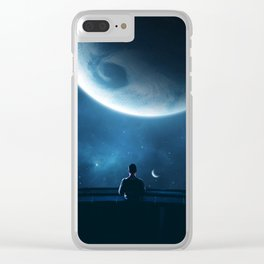 Planet manipulation Clear iPhone Case