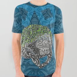 Manatee Totem All Over Graphic Tee