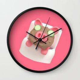 Rosa the Pig does Mud Bath Wall Clock