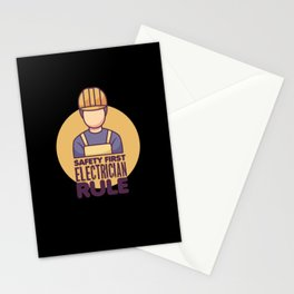 Electrician electric proud skilles - birthday gift Stationery Cards