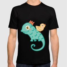 Bird & Chameleon Mens Fitted Tee Black MEDIUM