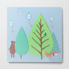 A perfect day for hide and seek, kite flying and forrest adventures Metal Print