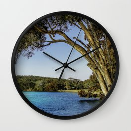 Gum Trees At Red Rock Wall Clock