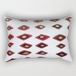 Black Diamonds on White Rectangular Pillow