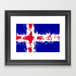 in to the sky, iceland Framed Art Print