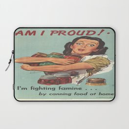 Vintage poster - Am I Proud? Laptop Sleeve