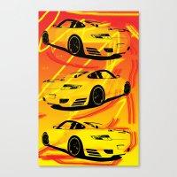 porsche Canvas Prints featuring Porsche  by deadfish