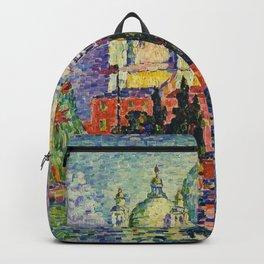 View of Santa Maria della Salute, Venice Landscape by Paul Signac Backpack
