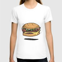 burger T-shirts featuring BURGER by Anthony Morell