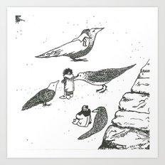 Adventures with birds Art Print