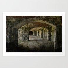 The Tunnels Art Print