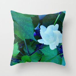 Cotton Blossom Throw Pillow