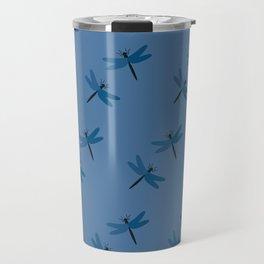 Dragonflies on blue Travel Mug