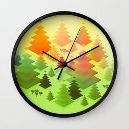 Forrest sunrise Wall Clock