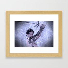 Bam Bam the Snow Warrior Framed Art Print