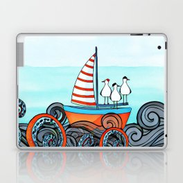 Seagull and little boat Laptop & iPad Skin
