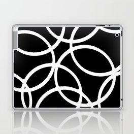 Interlocking White Circles Artistic Design Laptop & iPad Skin