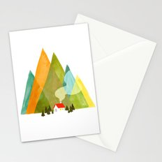 House at the foot of the mountains Stationery Cards