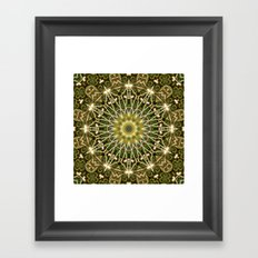 Geometric Forest Mandala Framed Art Print