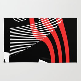 Black and white meets red Version 30 Rug