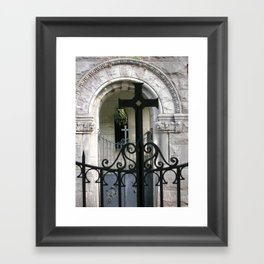 At the Monastery Gate Framed Art Print