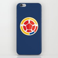 colombia iPhone & iPod Skins featuring WORLDCUP IS COMING! - COLOMBIA by Andres Corredor