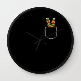 Kebab In The Pocket Food Lover Gift Idea Wall Clock