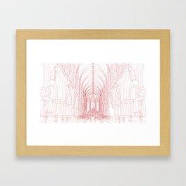 Inside Church Framed Art Print