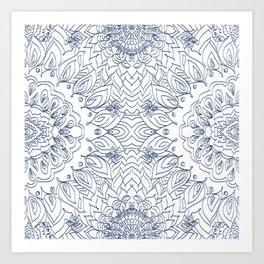 Blueflower Art Print