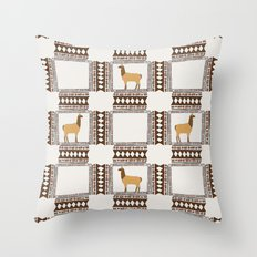 Lamas of Machu Picchu Throw Pillow