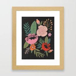 Floral Guache Framed Art Print