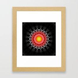 Mandala Darkness Framed Art Print