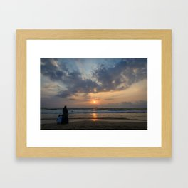 Bentota Beach Sunset Framed Art Print