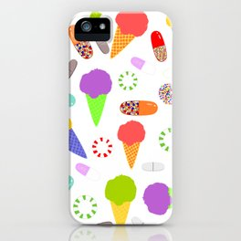 Ice Cream, Candy, and Pills iPhone Case