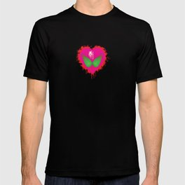 lovebomb-iiis - élan vital ephemeral - in_destruction creation! (blood splatter v) T-shirt
