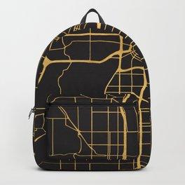 MINNEAPOLIS MINNESOTA GOLD ON BLACK CITY MAP Backpack