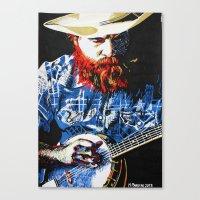 banjo Canvas Prints featuring Banjo by MiPan