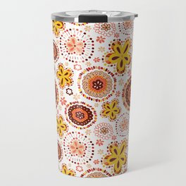 Organic Medallions -Burnt Orange Travel Mug