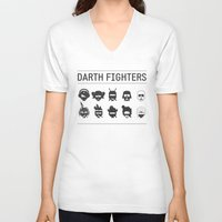 foo fighters V-neck T-shirts featuring Darth Fighters by Nillustra™