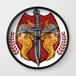 Viking Odin - Raven God Warrior Wall Clock