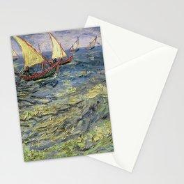 Fishing Boats at Saintes-Maries by Vincent van Gogh Stationery Cards