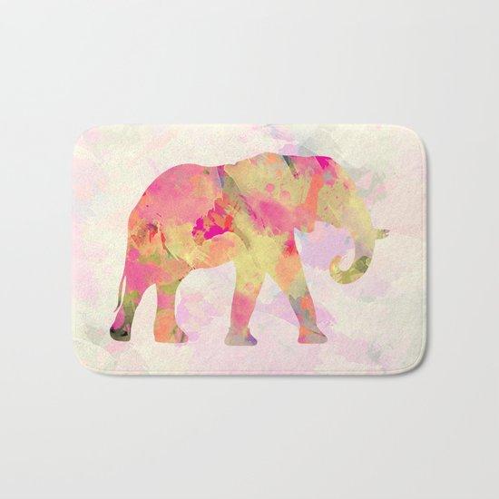 Abstract Elephant II Bath Mat