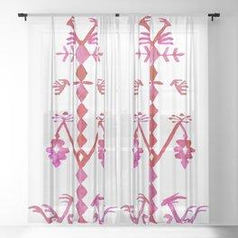 Ethnic Kilim Pattern Tree of Life Sheer Curtain