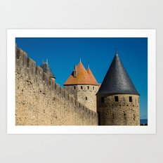 Carcassonne Towers Art Print