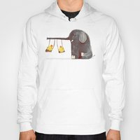 elephant Hoodies featuring Elephant Swing by Picomodi