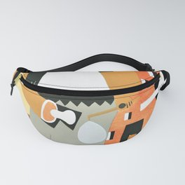 12,000pixel-500dpi - Pablo Picasso - Pierrot and Harlequin - Digital Remastered Edition Fanny Pack