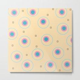 happy circles in egg yoke yelow Metal Print